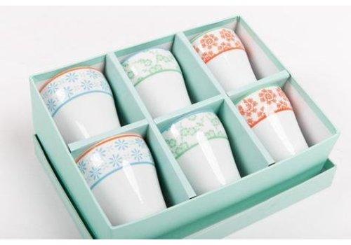 Fine Asianliving Giftset Japanse Mokken Bekers Porselein Kleur