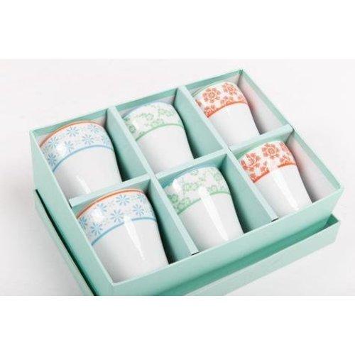 Giftset Japanese Mugs Porcelain Colour