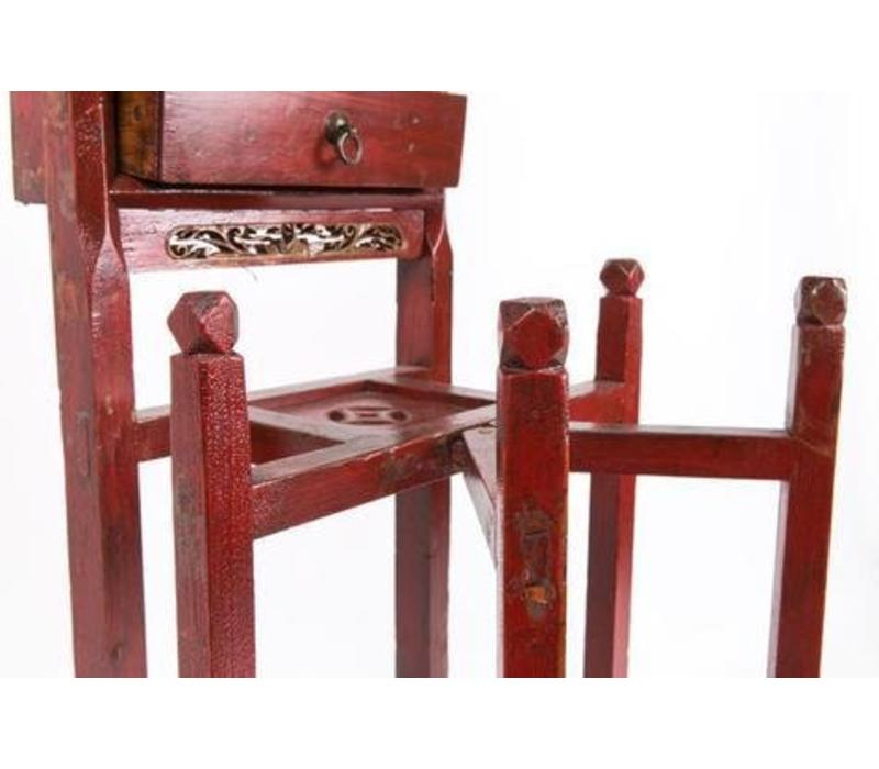 Antique Chinese Red Table for Washbasin