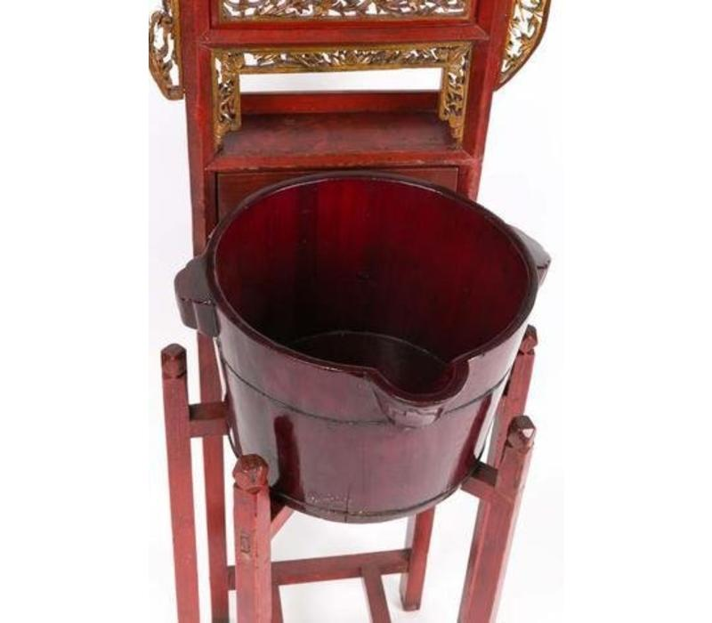 Antieke Chinese Rode Wastafel