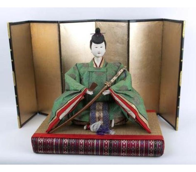 Antique Japanese Emperor and Empress Hina Ningyo Meiji Style