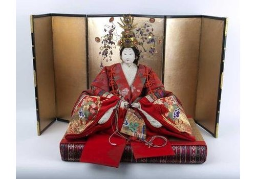 Fine Asianliving Antique Japanese Emperor and Empress Hina Ningyo Meiji Style
