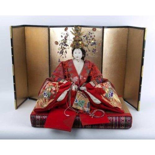 Antique Japanese Emperor and Empress Hina Ningyo Meiji Style