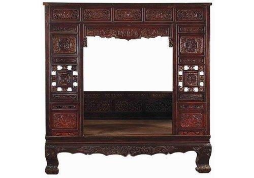 Fine Asianliving Cama China Antigua Siglo 18 Tallados a Mano
