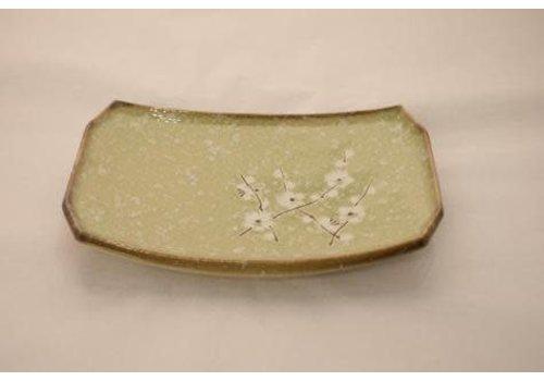 Fine Asianliving Soshun Glossy Cosmos Green - Rechthoekig Bord 22x14x3cm