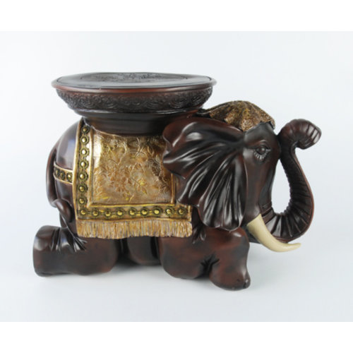 Fine Asianliving Elephant Stool Decoration