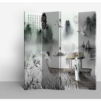 Fine Asianliving Chinees Kamerscherm Oosters Scheidingswand 4 Panelen Dichter L160xH180cm