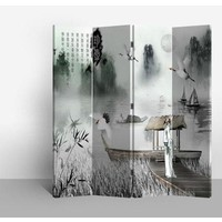 Fine Asianliving Chinese Oriental Room Divider Folding Privacy Screen 4 Panel L160xH180cm