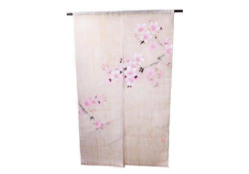 Fine Asianliving Japanse Noren Sakura Handgeschilderd 85x150cm