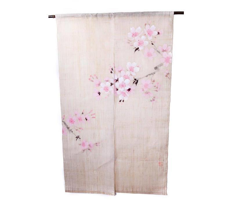 Japanse Noren Sakura Handgeschilderd 85x150cm