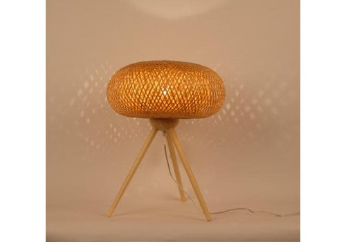 "Fine Asianliving Fine Asianliving Bamboo Table Lamp Handmade - ""Jim"""