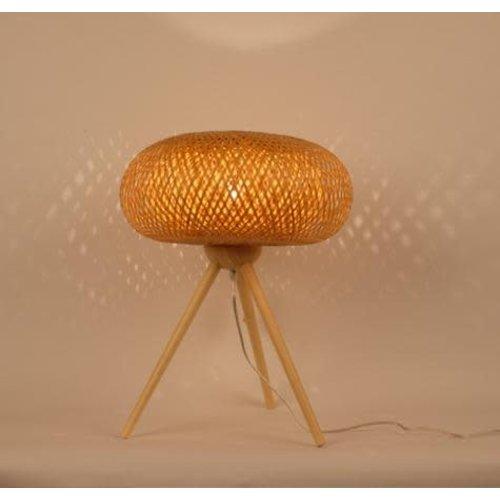 "Fine Asianliving Bamboo Table Lamp Handmade - ""Jim"""