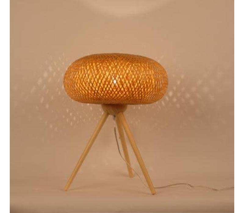 Fine Asianliving Japanse Style Tafellamp Bamboe Driepotig