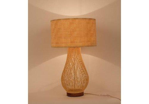 """Fine Asianliving Fine Asianliving Handgemaakte Bamboe Tafel Bureau Lamp - """"Justin"""""""