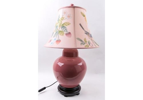Fine Asianliving Fine Asianliving Oosterse Table Lamp Porcelain Handpainted Kap Pink