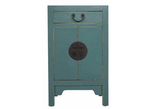 Fine Asianliving Fine Asianliving Table De Chevet Chinoise Bleu Foncé Bleu Sarcelle 42x35x70cm