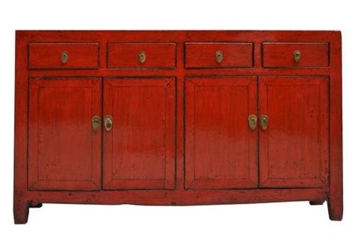 Fine Asianliving Oud Chinees Dressoir Rood (1900-1915) - Dongbei China