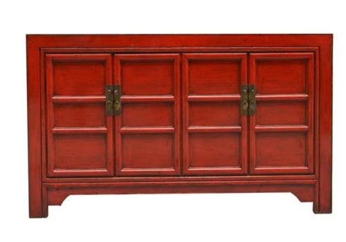 Fine Asianliving Chinees Dressoir Rood - Beijing China