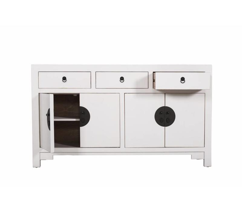 Chinese Sideboard Chest of Drawers Dresser Cabinet White W140xD35xH80cm
