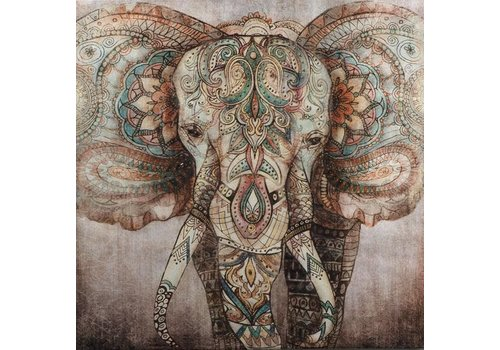 Fine Asianliving Painting Elephant Handpainted