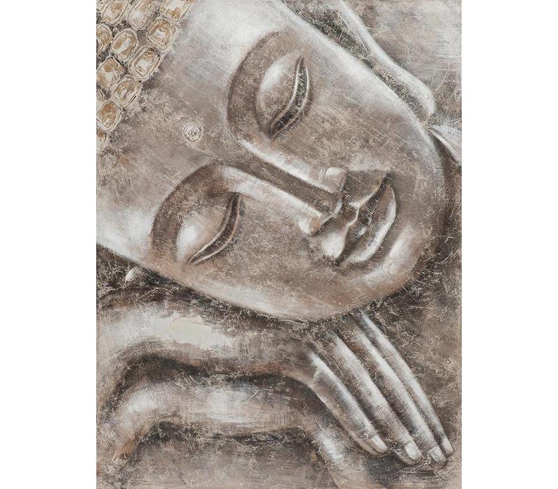 Schilderij Slapende Boeddha Metal Foil