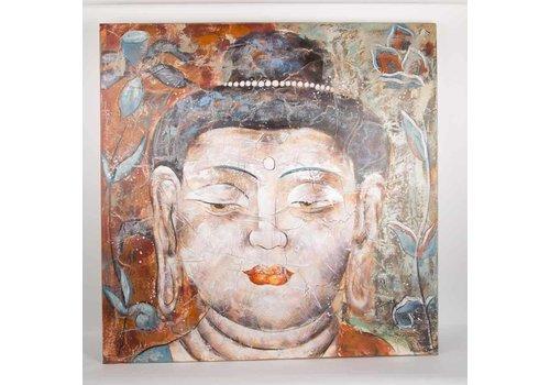 Fine Asianliving Boeddha Schilderij Wanddecoratie 3D Groot