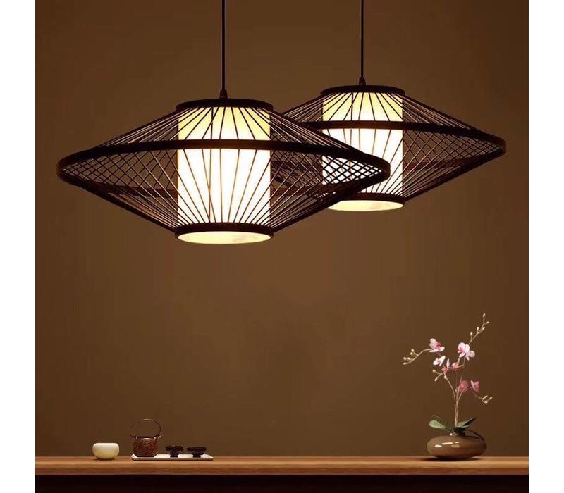 Fine Asianliving Ceiling Light Pendant Lighting Bamboo Lampshade Handmade - Damian