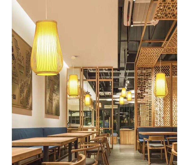 Fine Asianliving Lampara de techo Bambú Lampara Colgante Hecho a mano - Bella