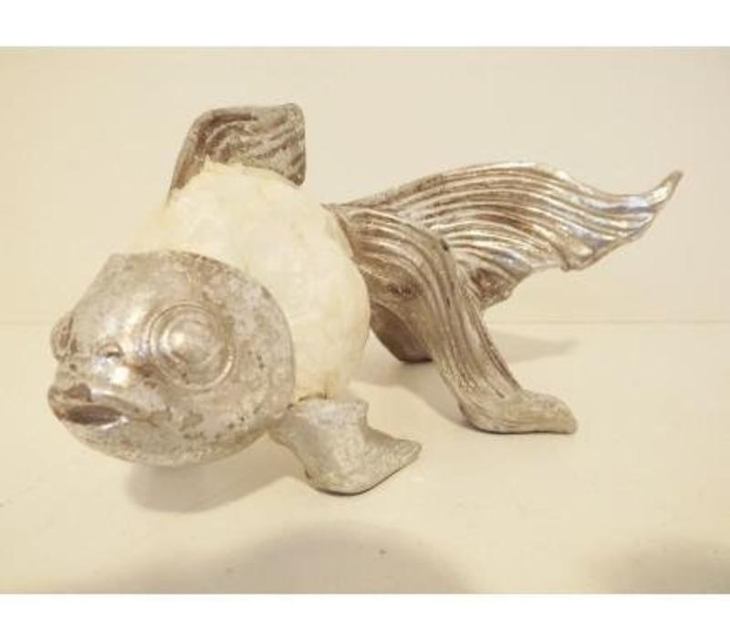 Fish Mother-of-Pearl Polystone Home Accessory Large