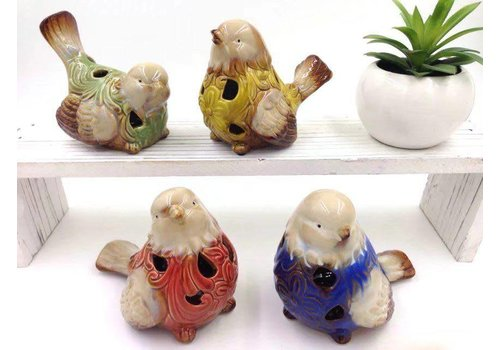 Fine Asianliving Bird Pottery Yellow