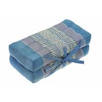 Fine Asianliving Thaise Kussen Yoga Mat Uitklapbaar Handgemaakt Blauw