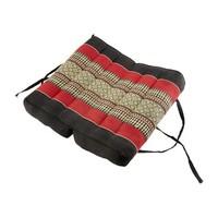 Fine Asianliving Thai Cushion Yogaseat 40x40x7cm (Folded) Meditation Pillow Block Kapok Red