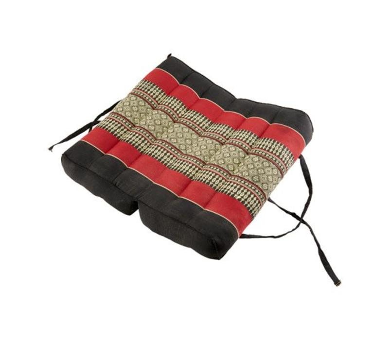 Thaise Kussen Yoga Mat Uitklapbaar Handgemaakt Rood