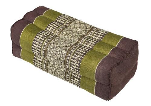 Fine Asianliving Fine Asianliving Thai Cushion Yoga Block L35xB15xH10cm Meditation Neck Pillow Support Kapok Green