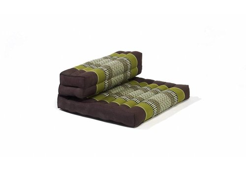 Fine Asianliving Fine Asianliving Thai Cushion Yogaseat 50x75x12cm Foldable Meditation Mat Pillow Block Kapok Green