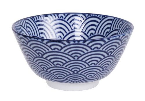 Fine Asianliving Nippon Blue Rice Bowl 12x6.4cm Wave