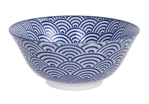 Fine Asianliving Nippon Blue Tayo Bowl 15.2x6.7cm Wave