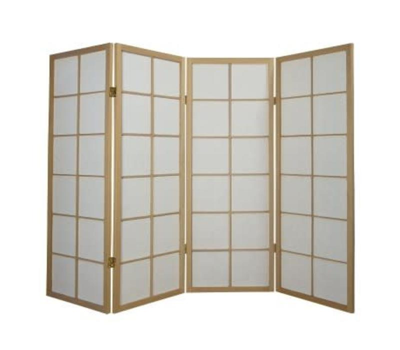 Fine Asianliving Japanese Room Divider L180cmxH130cm Shoji Rice Paper Natural 4 Panel
