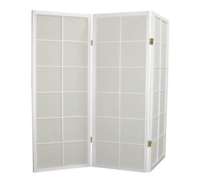 Fine Asianliving Japanese Room Divider L135cmxH130cm Shoji Rice Paper White 3 Panel