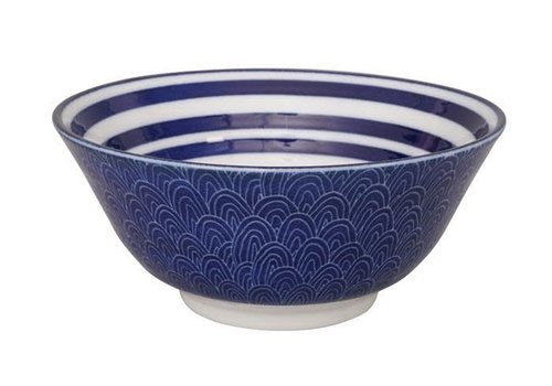 Fine Asianliving Blue de'Nimes Bowl 15.2x6.7cm Circles