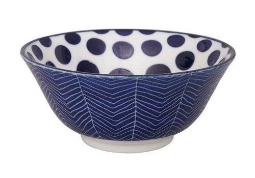 Fine Asianliving Blue de'Nimes Bowl 15.2x6.7cm Dots