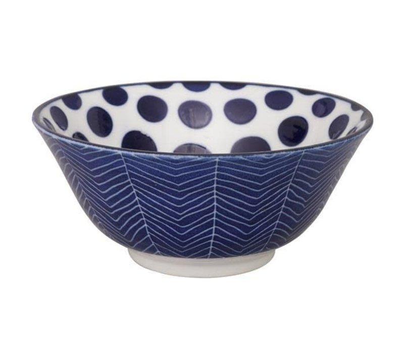 Blue de'Nimes Bowl 15.2x6.7cm Dots