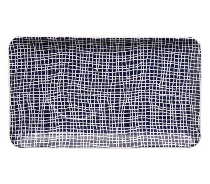 Blue de'Nimes Plate 20.5x12.5cm