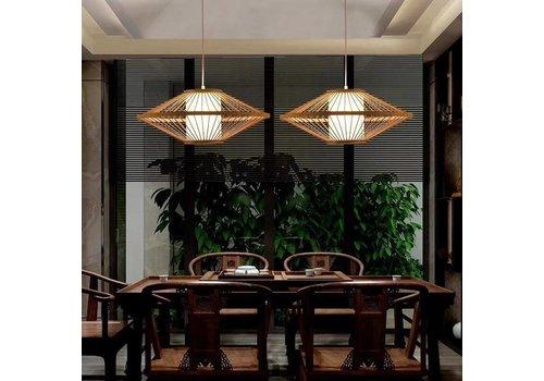 Fine Asianliving Bamboe Gevlochten Hanglamp Plat