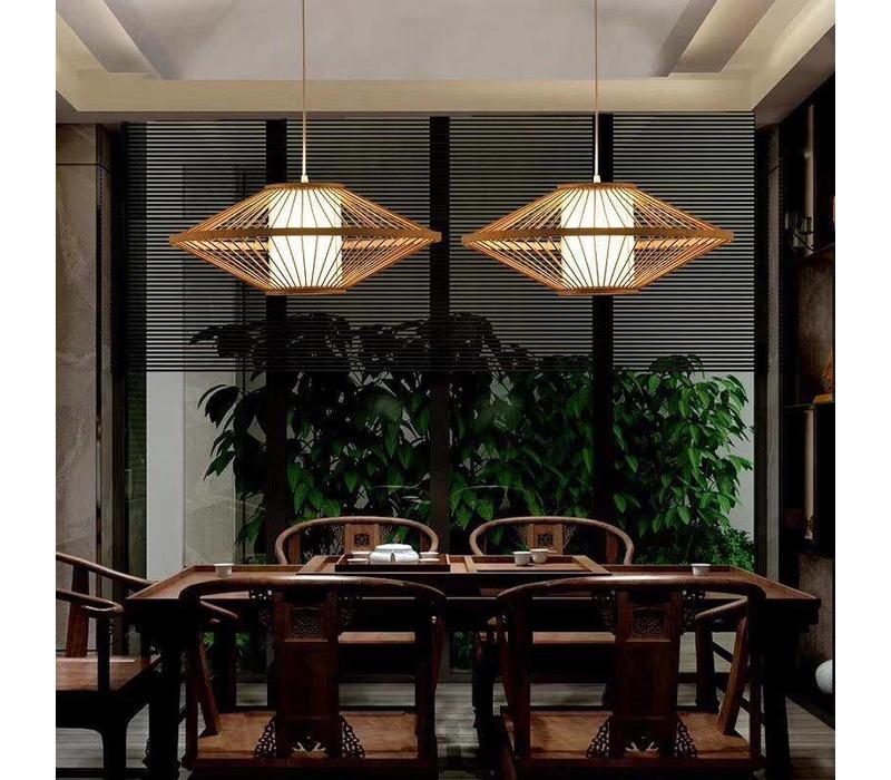 Bamboe Gevlochten Hanglamp Plat