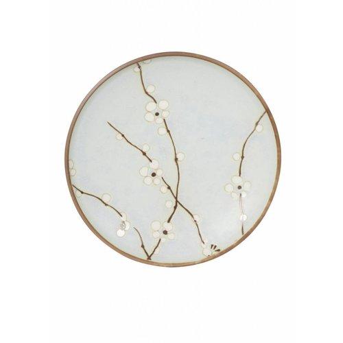 Soshun Blossom Matte Plate 23cm