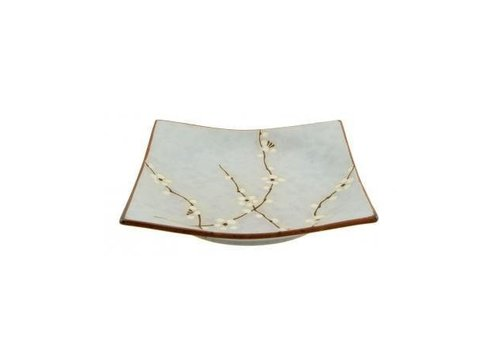 Fine Asianliving Soshun Square Plate Matte 22.9 x 22.9 cm