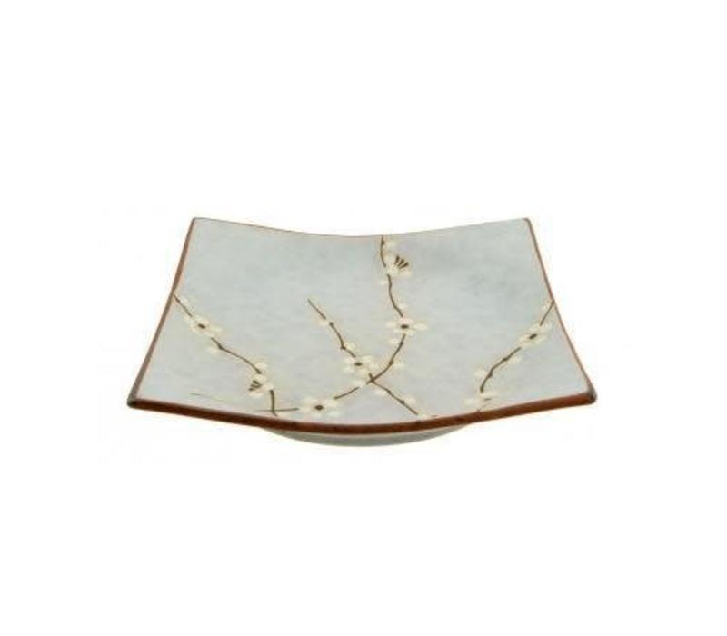 Soshun Fourhoekige Plate Matte 17,5 x 17,5 cm