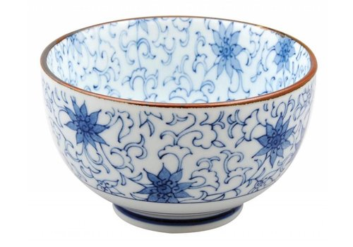Fine Asianliving Tokio Design - Japanese Tableware Mixed Bowls Flowers 12.7 x 7.5 cm