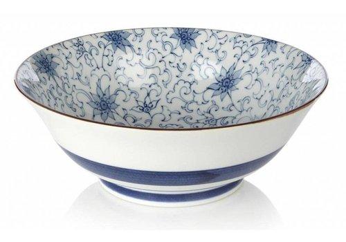 Fine Asianliving Tokyo Design Studio - Japanese Bowl Soba Blue-White 19 x 7.5 cm